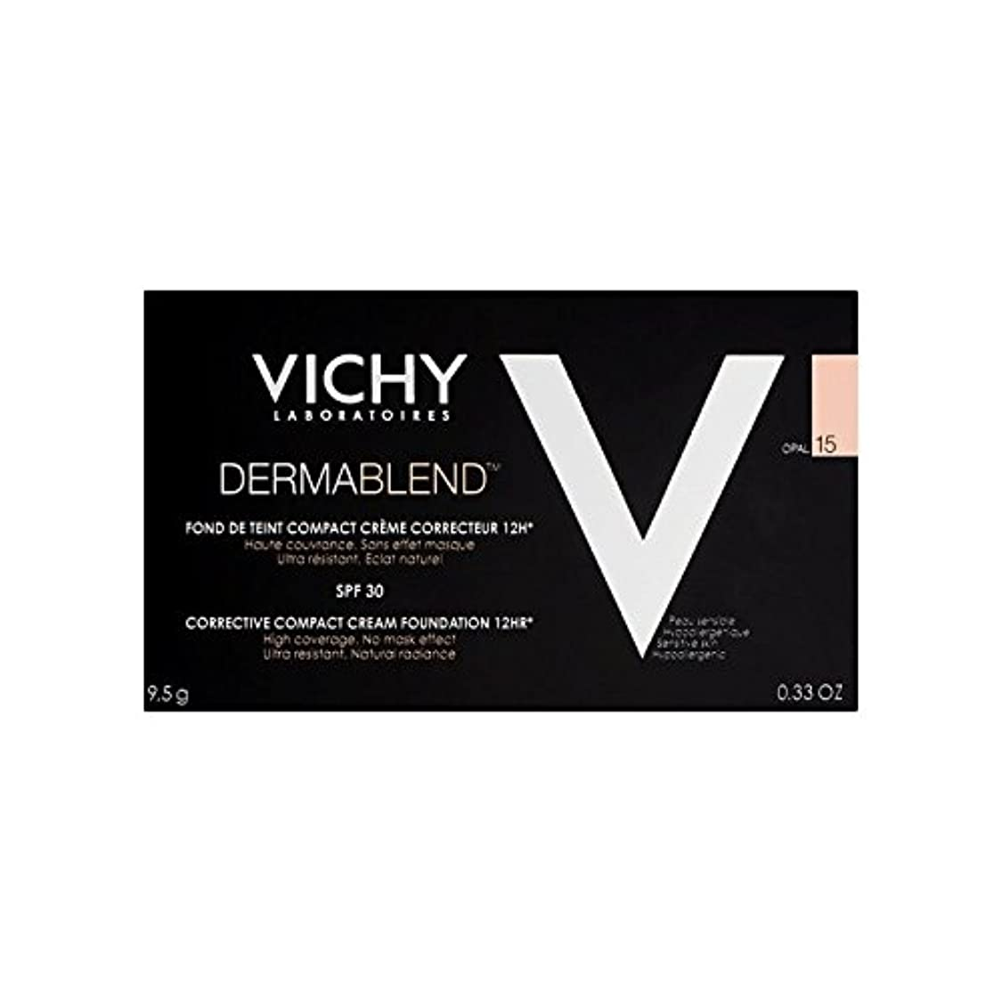 フラグラントと遊ぶ寺院Vichy Dermablend Corrective Compact Cream Foundation Opal 15 (Pack of 6) - ヴィシー是正コンパクトクリームファンデーションオパール15 x6 [並行輸入品]