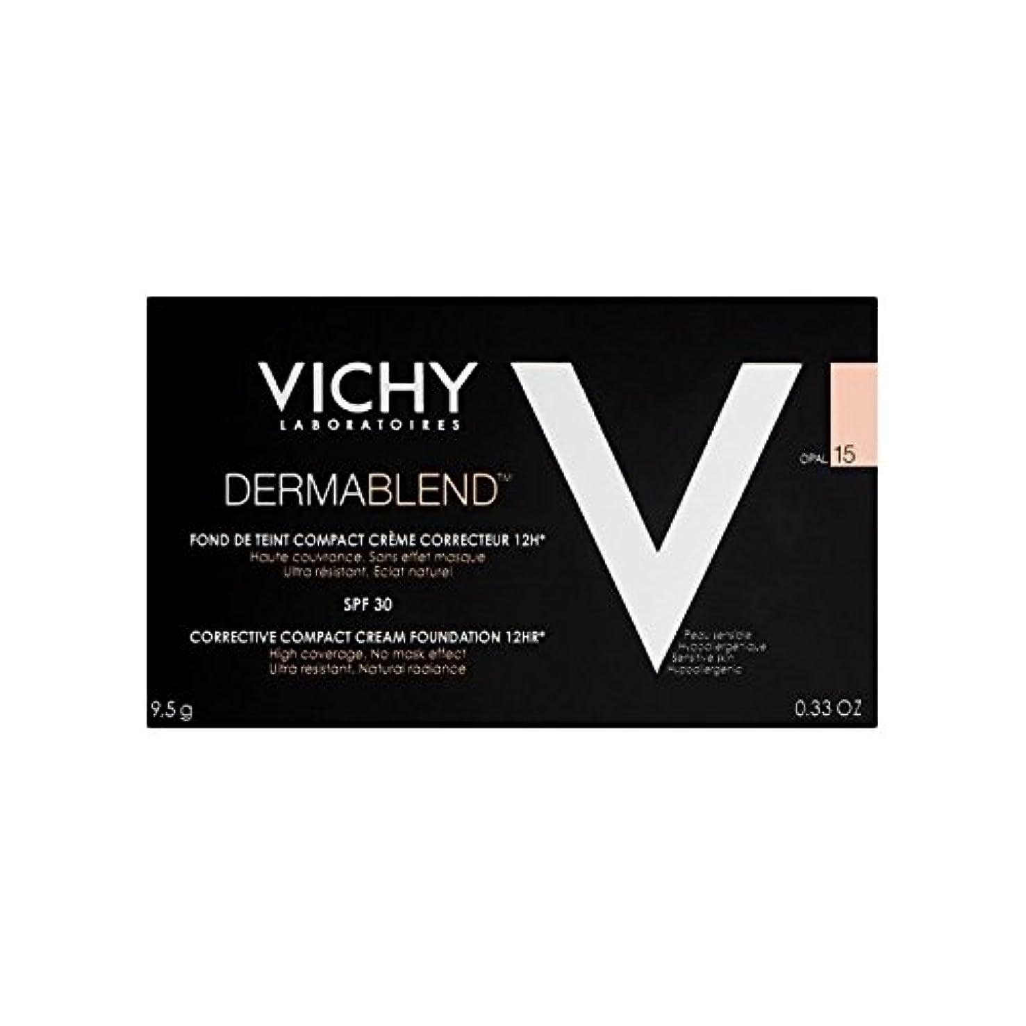 誘う実施する援助ヴィシー是正コンパクトクリームファンデーションオパール15 x2 - Vichy Dermablend Corrective Compact Cream Foundation Opal 15 (Pack of 2) [並行輸入品]