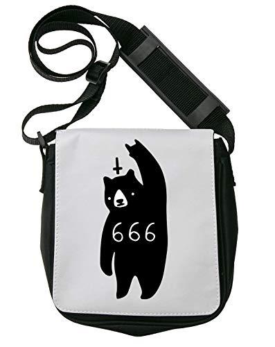 Bear 666 Satan Schultertasche Herren Umhängetaschen Damen Taschen Unisex Shoulder Bag