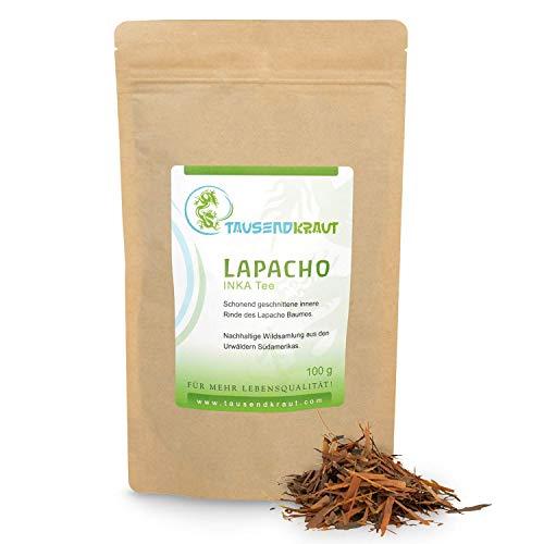 Tausendkraut PREMIUM Lapacho INKA Tee - 100g - Bester INKA Tee - Hohe Produktsicherheit - Fairer Anbau und Handel - Aus Wildsammlung in Peru - Nachhaltig und natürlich - Bester Geschmack