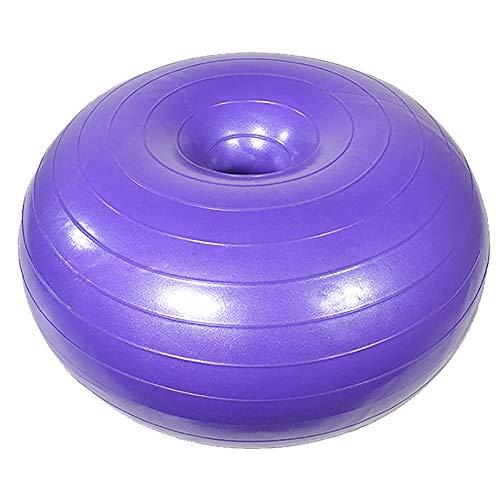 SSZY Gymnastikball Sitzball Donuts Übung Yoga Ball für Erwachsene Anfänger, Anti Burst Thick Balance Ball für Schwangere (Color : Purple)