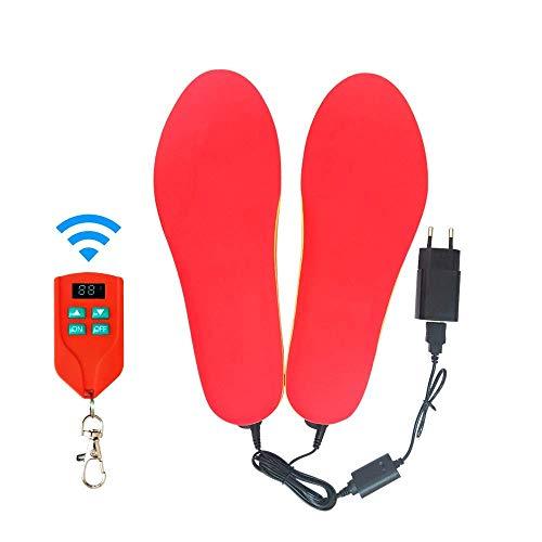 CNMF Verwarmbare inlegzolen, voetwarmer, verwarmbare thermozool, kit met afstandsbediening, draadloze oplaadbare verwarming op batterijen.