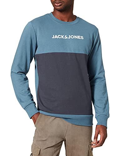 JACK & JONES JACSMITH LW Crew Sweatshirt Maillot de survtement, Blazer Bleu Marine, XL Homme