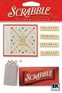 Scrabble Board Game Dimensional Scrapbook Stickers (SPJG006)