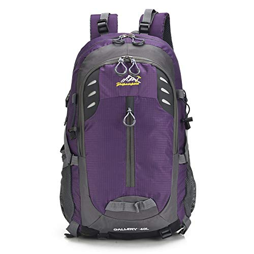 YLiansong-home Waterproof Travel Backpack Travel Hiking Backpack 40L Waterproof Camping Backpack Trekking Rucksack For Outdoor Mountaineering Sport External Frame Camping (Color : Purple, Size : 40L)