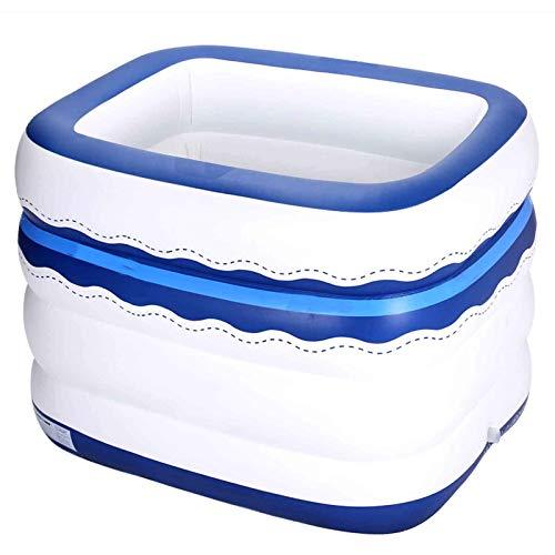 WSDSX Piscina Inflable, Piscinas de tamaño Completo sobre el Suelo para niños, Adultos, jardín, Patio Trasero, Centro de natación al Aire Libre, Fiesta acuática, Piscina Familiar, Blanco