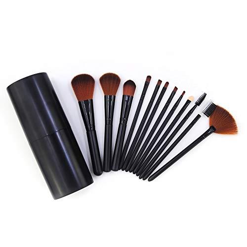 12 pinceau de baril 12 kit de maquillage brosse de stockage noir outils de beauté