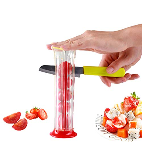 Tomato Slicer ,Grape Slicer ,Cherry Slice Fruit Vegetable Salad Slicer, for All Kinds Of Small Fruits (Red)