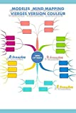 Mind mapping modèles vierges couleur: 6 branches, 4 branches, 2 branches en couleur