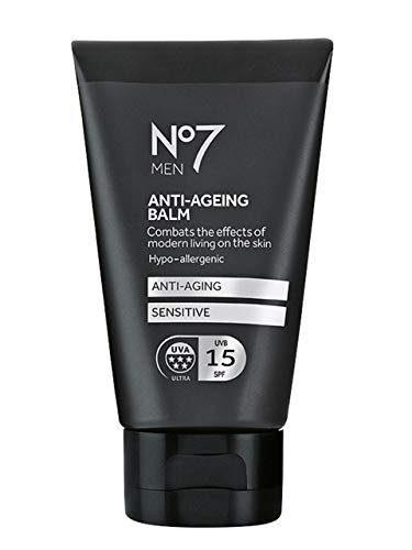 Boots No7 MEN ANTI-AGEING BALM FOR MEN SENSITIVE 50ml With SPF15 and 5*UVA...
