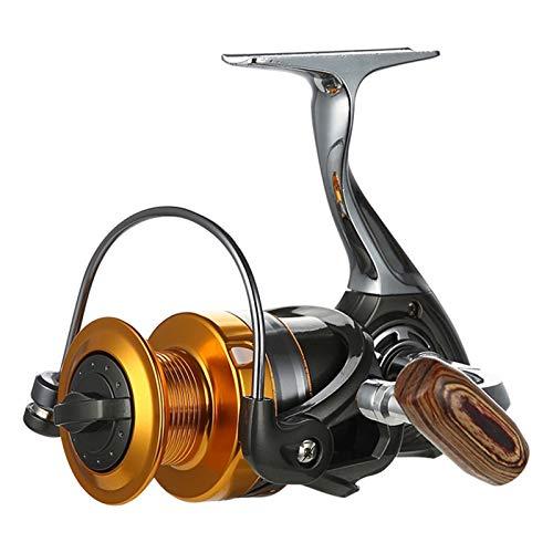 QIULAO Carrete de pesca, Relación de alta velocidad engranajes 5.2: 1 Carrete de pesca, 12 + 1BB Rodamiento silencioso de alta precisión, Super Pull 12kg / Universal Full Metal Spinning Reel para pesc