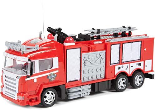 World Tech Toys- Camión de Bomberos teledirigido 34980, Roj
