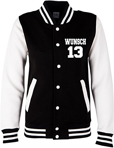 EZYshirt® College Jacke Wunschname und Wunschnummer & Partnerlook College Jacke | Baseball Jacke