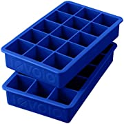 Tovolo Perfect Cube Ice Tray, Set of 2, Stratus Blue