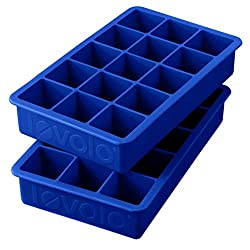 2 blue ice cube trays