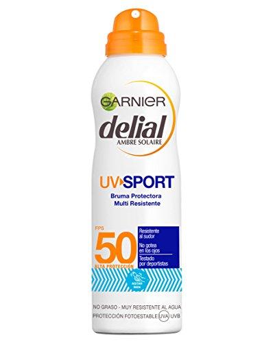 Garnier Delial UV Sport Bruma de Protección Solar para Cara y Cuerpo con SPF50 - 200 ml