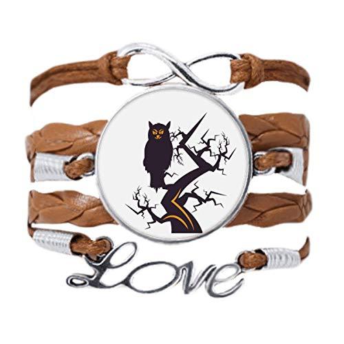 DIYthinker Tree Eyed Owl Halloween Art Deco Gift Fashion Bracelet Love Chain Rope Ornament Wristband Gift