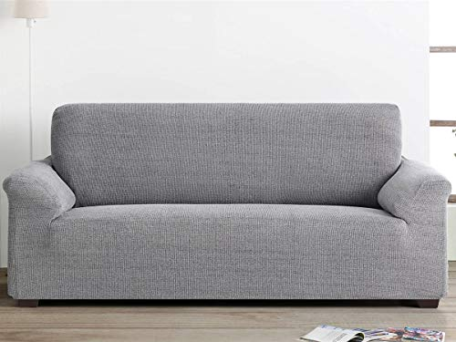 Lanovenanube - Funda sofá Elegant - PatternFit - 4 plazas - Color Gris C10