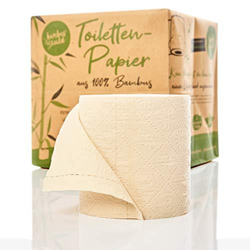 bambuswald© nachhaltiges Toilettenpapier aus 100% Bambus | 8x Rollen á 200 Blatt - 3 lagig sanft trocken & angenehm weich | holzfreies Klopapier in plastikfreier Verpackung | WC-Papier Toilet Paper