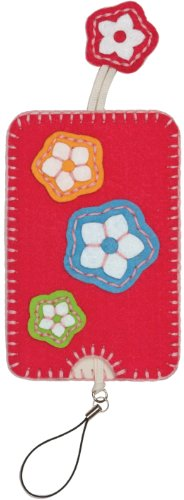 Dimensions Needlecrafts Feltworks Embroidery, Flower Trio Cell Case