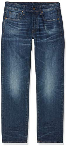 G-STAR RAW Herren Straight Jeans 3301 Straight 51002 - 8595, Gr. W40/L34, Blau (Dk Aged 89)