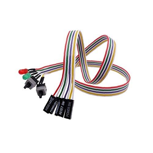 Interruptor de alimentación Adaptador de Cable de Bricolaje anfitrión Restablecer Altavoz y el Interruptor Jumper línea con los Cables de Puente llevó la Placa Base Conveniente para la PC Host