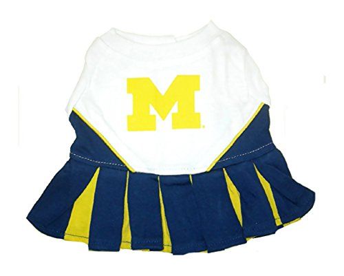 NCAA University of Michigan Wolverines Cheerleader Outfit, Dog Medium