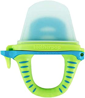 teetherpop - Fillable, Freezable Baby Teether for Breastmilk, Purées, Water, Smoothies, Juice & More (Baby Teether is USA Made & BPA Free)