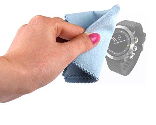 DURAGADGET Paño Limpiador para Smartwatch Cogito Classic Limpiar La Pantalla - Calotherm - Calocloth -De Microfibras (8 x 6 Pulgadas)