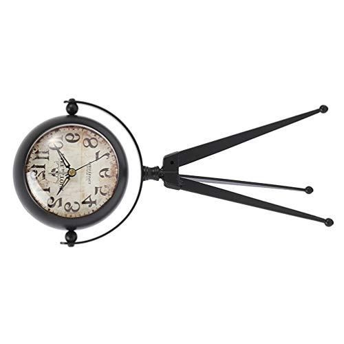 GARNECK Reloj Despertador Analógico Retro Antiguo con Trípode Reloj de Mesa de Movimiento de Cuarzo sin Tictac para Decoración de Dormitorio de Sala de Estar sin Batería S