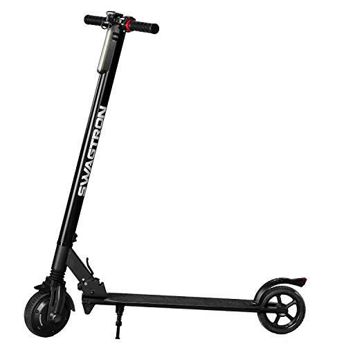 Swagtron Swagger Classic Foldable Kids Electric Scooter, Cruise Control, 200W Hub Motor, Maintenance-Free Tires & More (SG-2)