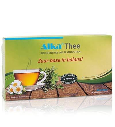 Alka® Tee: Basischer Kräutertee zum Entsäuern aus 52 Kräutern - 100 Teebeutel- Jetzt mit GRATIS Teeglas!