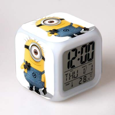 Toy Alarm Clock New Movie Led Digital Watch 7-Color Flickering Alarm Clock Children Bedroom Night Light Clock