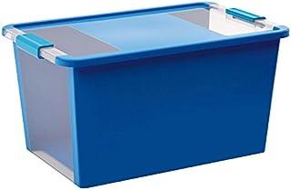 Kis 8454000 0454 01 Boîte de Rangement Bi Box 40 litres en Bleu-Transparent, Plastique, 55x35x28 cm