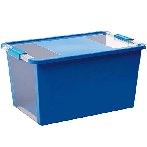 KIS Aufbewahrungsbox Bi Box 40 Liter in blau-transparent, Plastik, 55x35x28 cm