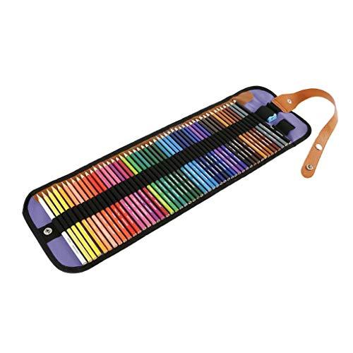 WE-WHLL 36/48/50/72 Colores Color Soluble en Agua Pincel de Pintura de Plomo Lápiz Pintado a Mano Acuarela Dibujo Kit de bocetos Material de Oficina Escolar-5