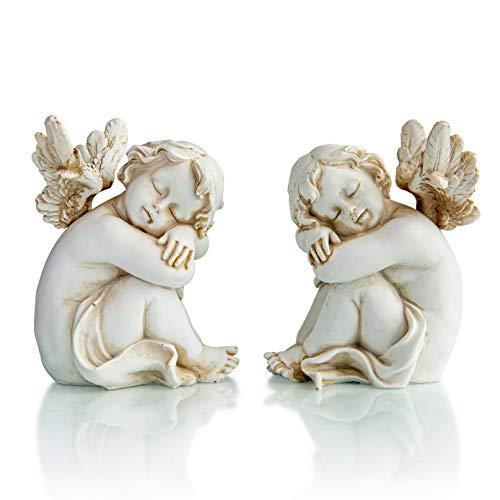 Piquaboo Set Of 2 Cherubs Ornaments Figurines