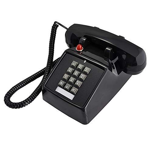 DERTHWER Landline Phones European Antique Farmhouse Style Telephones Retro Landline Desk Telephone,Corded Phone for Home and Decor,Black Best Gift & Decor (Color : Black, Size : 20x22x12cm)