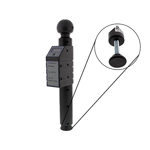 ATSensoTec Digitale Stützlastwaage bis 150kg (schwarz)