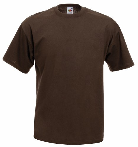 Fruite of the Loom Valueweight T-Shirt, vers. Farben XL,Chocolate