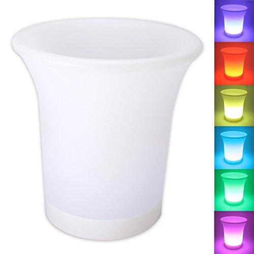 LED Flaschenkühler Sektkühler Weinkühler Champagnerkühler Sektkübel Eiskübel mit Farbwechsler LED-Beleuchtung
