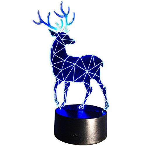 InnoWill Wapiti Cadeau Lampes D'ambiance 7 Couleurs Noël Décoration