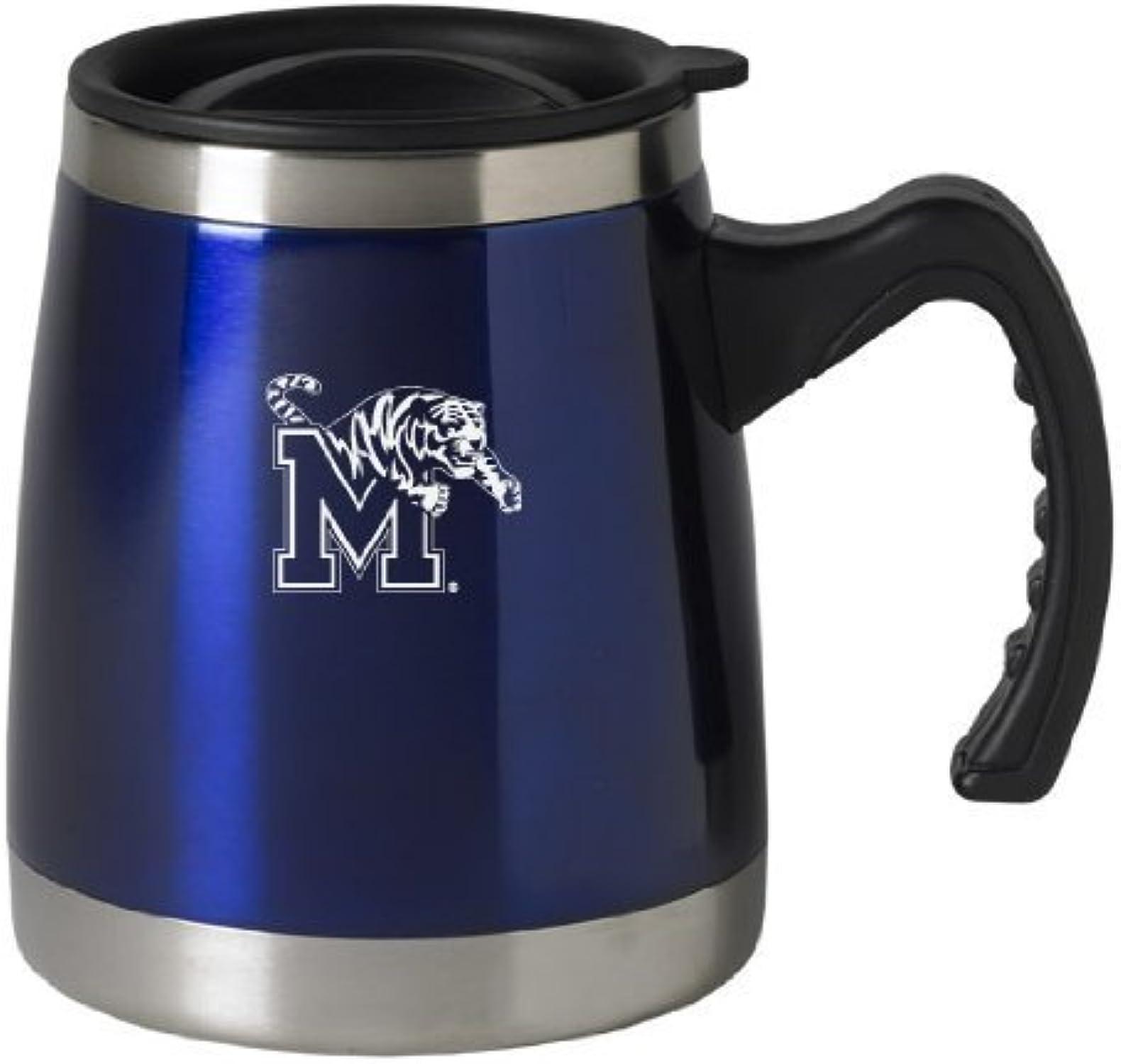 University of Memphis - 16-ounce Squat voyage Mug Tumbler - bleu by  LXG, Inc.