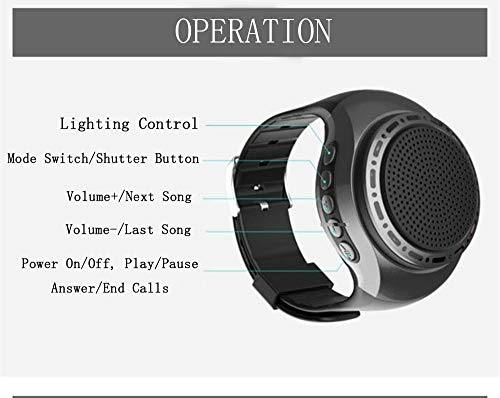 Portable Sports Bluetooth Speaker Watch with Multi Function MP3 Player & FM Radio & Selfie & Anti-Lost & Ultra Long Standby Time for Running, Hiking, Climbing 5