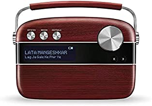 Saregama Carvaan Tamil Portable Digital Music Player (Porcelain White) (Cherrywood)