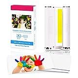 Fimax - Papel fotográfico Compatibles con Canon Selphy CP1300 CP1200 CP910, 7737A001 / KP-36IP, 1 cartucho de tinta de color y 36 hojas de papel de impresora (100 x 148 mm)