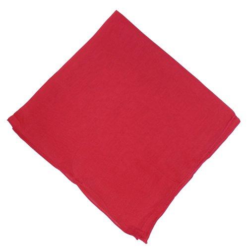 Halstuch 50x50cm Baumwolle 1A Qualität Einfarbig Bedruckbar Bestickbar Azofrei Uni Tuch Kopftuch Schultertuch Accessoire (1x, rot)