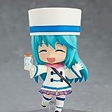Muñeca modelo Aqua versión Q, dijo '¡Bendiciones para un mundo mejor!' El personaje en postura de pie, también conocida como la Diosa del Agua, mide 3.9 pulgadas de alto, Hecho de material de PVC, par