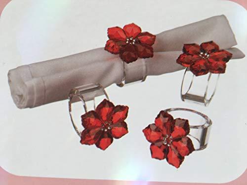 Judith Ripka Home Poinsettia Napkin Rings (Set of 4)