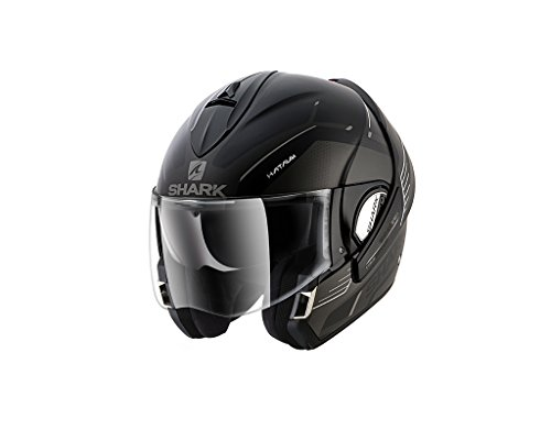 Shark Evoline 3 - Casco de moto, color negro, talla XS